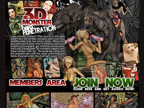 Love monster comics? Then you�re in the right place! Here the terrible monsters with enormous dicks brutally fuck hot chicks� holes, filling their guts
