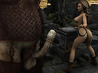 Cute petite beauties challenged with huge cocks of brutal fantasy monsters disgraced and creampied