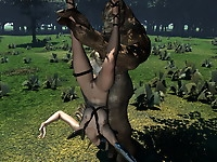 Hot sexy beauties banged hard by goblins and ogres will their teats gush with orgasm