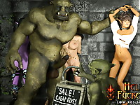 Exotic Warcraft bitch gets multiple cumshots until her mouth is filled with cum