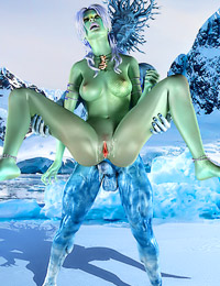 A slutty whore knew exactly what she was doing when she stripped naked near the cave of an iceman.