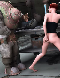 Hot and Horny 3D Whore Fucks Her Obedient Robot