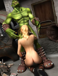 Goblin Lord fucks amazing blonde warrior girl