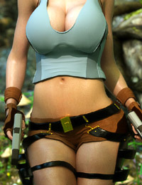 Slutty 3D Lara Croft have sex with insane black monster