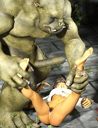 WTF! Sexy Warcraft cocksucker gets her pussy pounded by an evil orc