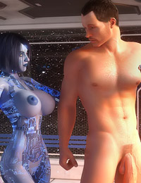 Impressive 3D sex in the space ship with a lusty robotic woman