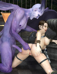 Monster cock probes the tight snatch of a hot tomb raider