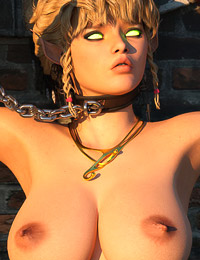 Leggy elven cutie deepthroating and banged like a cheap whore by black gang