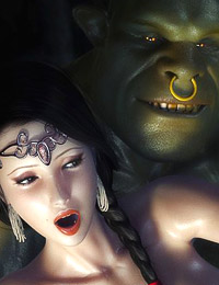 Two nasty ogres got one teen girl between them and fucking her ass and cunt at the same time