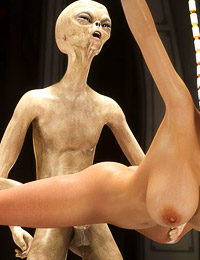 Insane and hot 3D porn scene featuring sexy babe and filthy aliens