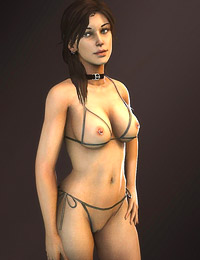 Lara Croft into  showing her dazzling Vast Pantoons in Tomb Raider erotic 3D art