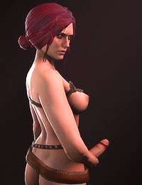Appetite Triss Merigold erotic dance out in Witcher erotic pictures