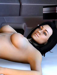 Mass Effect babes stuffed with huge cock in living room